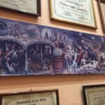 mural depicts a wild night of tequila drinking