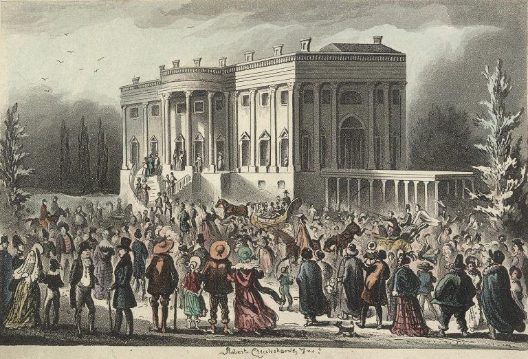 President's Levee - Jacksons First Inauguration- by Robert Cruickshank via Wikipedia
