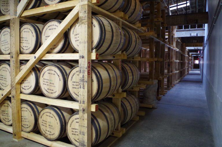 whiskey aging at Kentucky Peerless