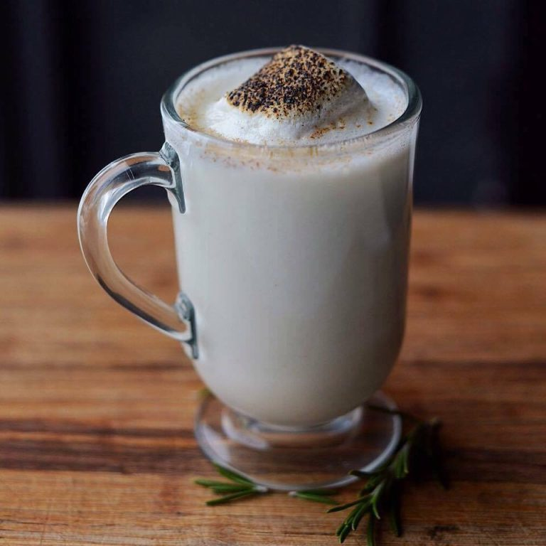 White Hot Chocolate with Cognac, photo by Cameron Rector of Vera, Buffalo, NY