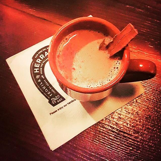 Tequila Añejo hot chocolate, courtesy Nicci Stringfellow, tequila Herradura