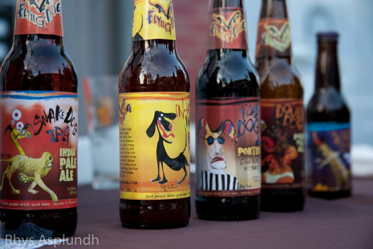 Flying Dog beer labels by Ralph Steadman, photo by Rhys A. via Flickr