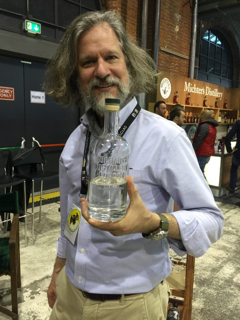 Jared Brown of Sipsmith with his Smoked Venison Gin