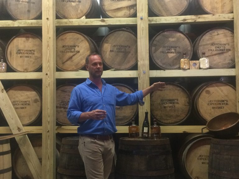 Trey Zoeller at the launch event at KY Artisan Distillery, photo by Sara Havens