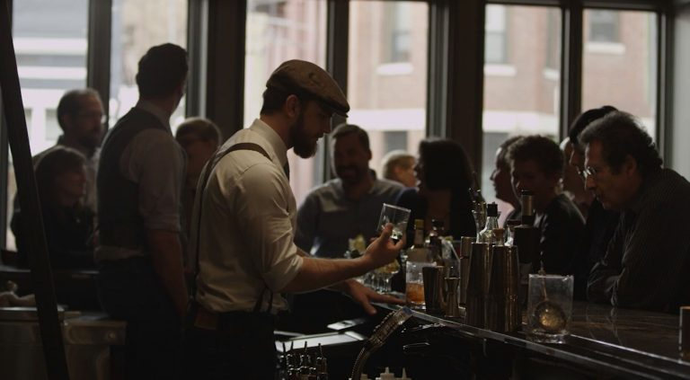 The Jack Rose Dining Saloon in Washington, D.C. in scene from I Whiskey
