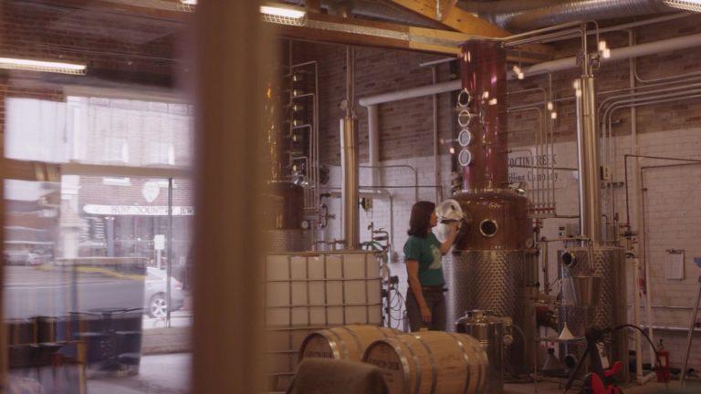 Catoctin Creek Distillery in scene from I Whiskey