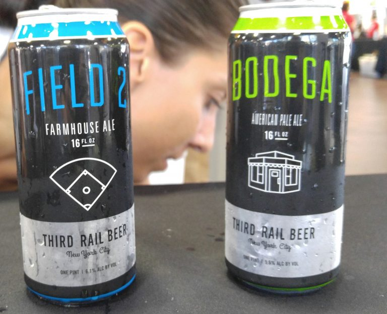 Co owner Kaitlyn Haubrich of Third Rail Beer