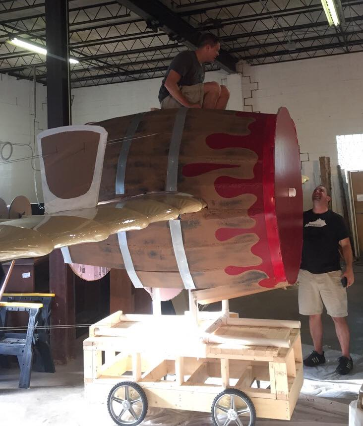 Shawn Clark adds the finishing touches to a section of SS Cask Stength