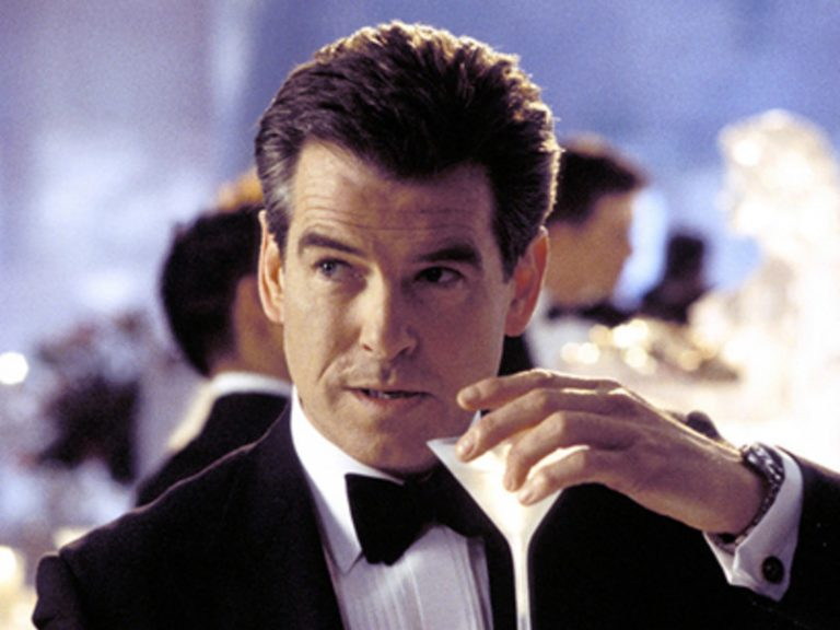 Pierce Brosnan downs a vodka Martini to get through Die Another Day
