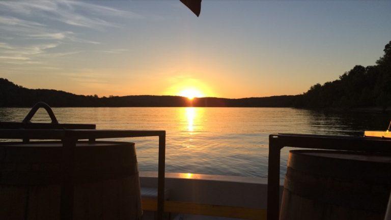 Sun sets over the barrels.