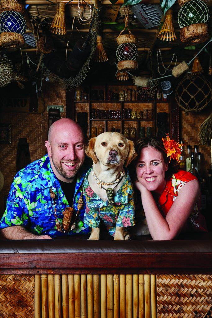 Martin and Rebecca Cate at Smuggler's Cove, courtesy Penguin Random House