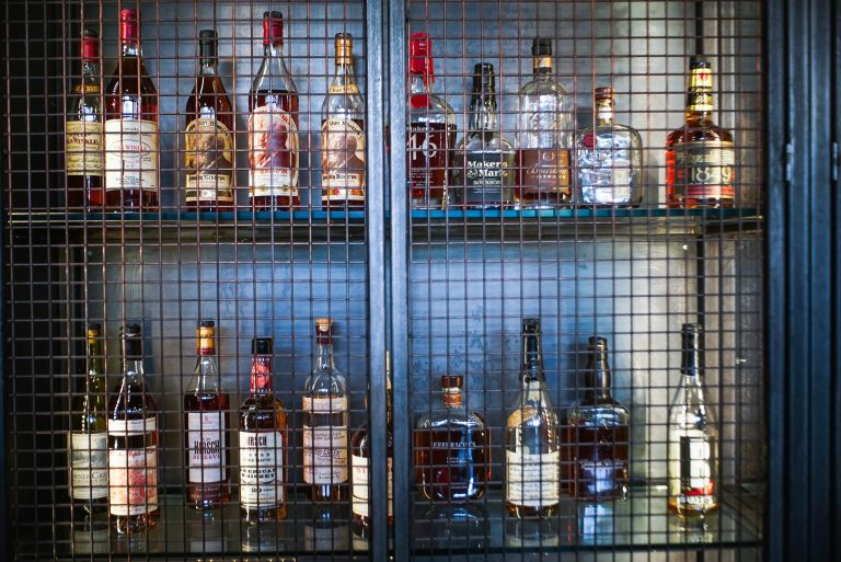 Bourbon cabinet at Barbecoa, London