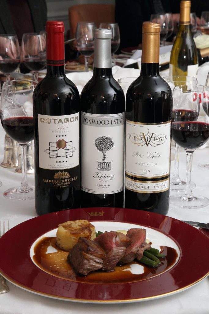 red wines from Octagon, Boxwood Estate and Veritas go with the main course, courtesy Steven Morris/R&R Teamwork