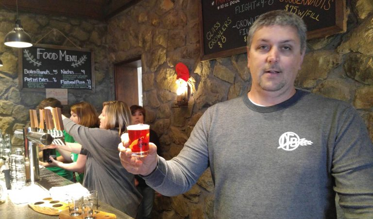 Bruce Zurschmeide in the Dirt Farm Brewing tasting room