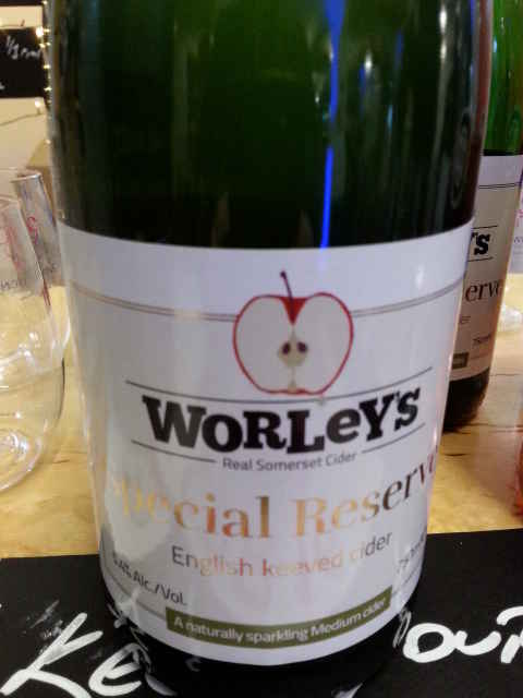 a cider selection from Worley's