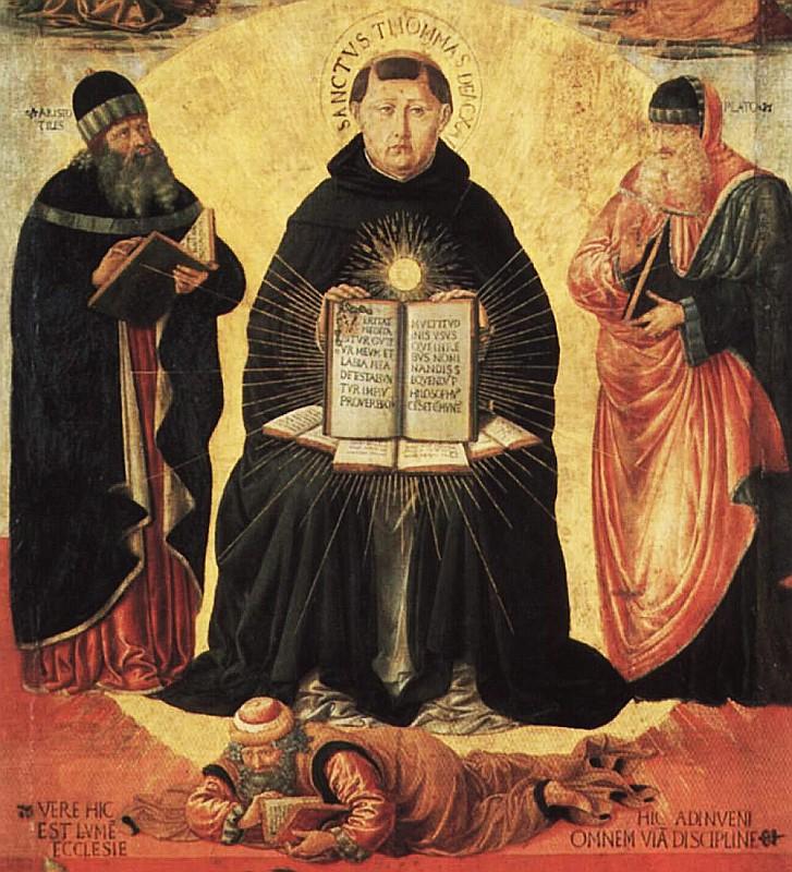 Detail from Triumph of St Thomas Aquinas over Averroes by Benozzo Gozzoli, DIRECTMEDIA Publishing