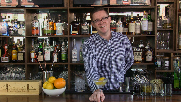 Tim Miner makes a perfect gin Martini.
