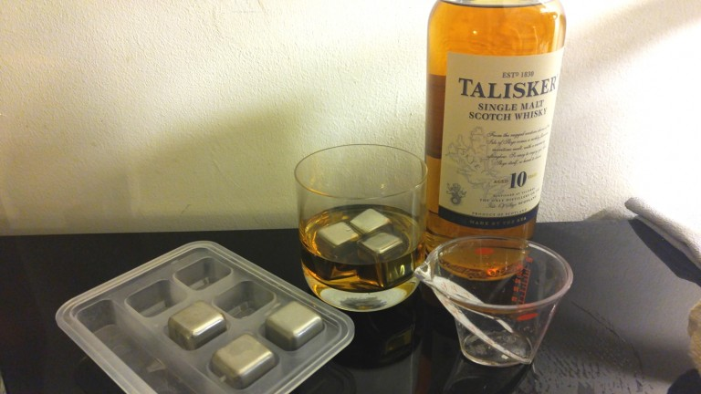 Talisker chilled with Kollea steel cubes