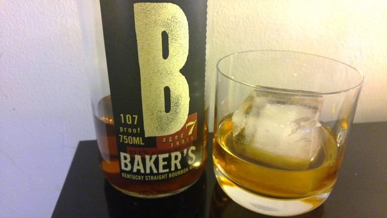 Baker's Bourbon chilled with one large cube