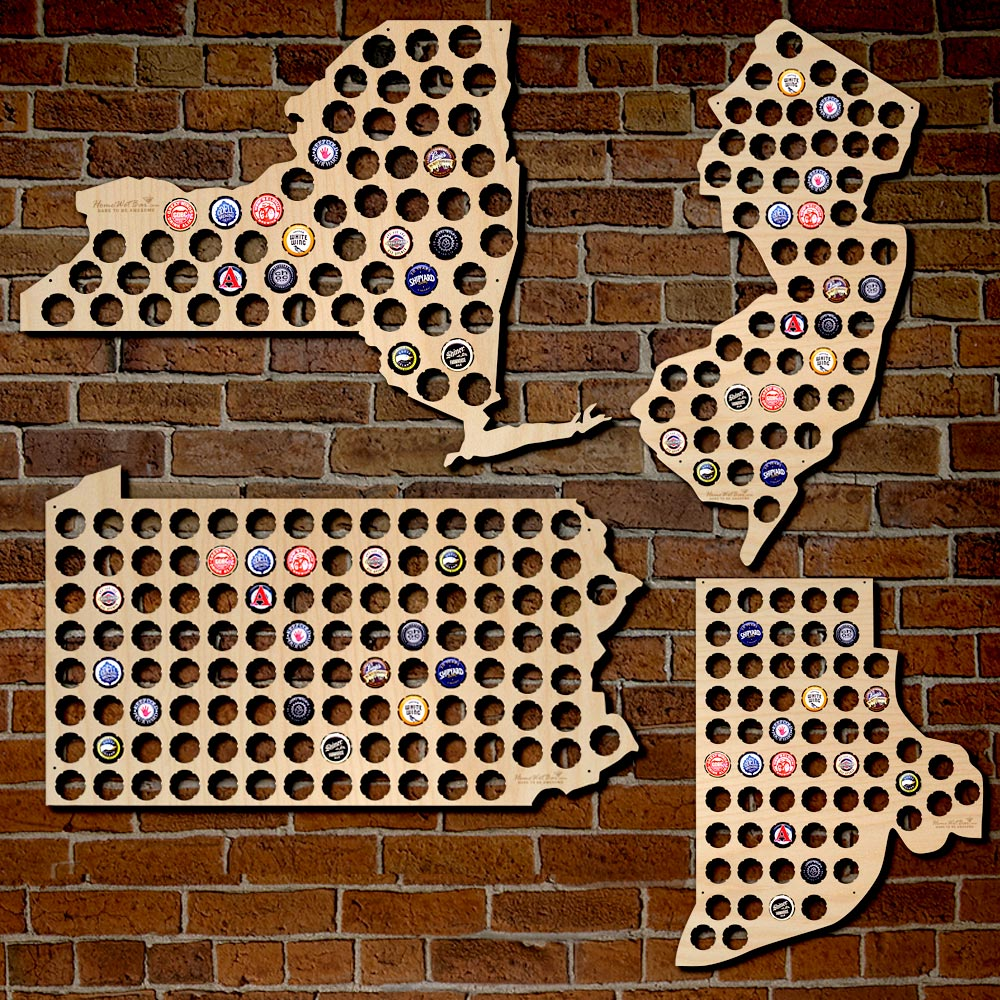 home-state-map-for-beer-caps-3 via Home Wet Bar.com