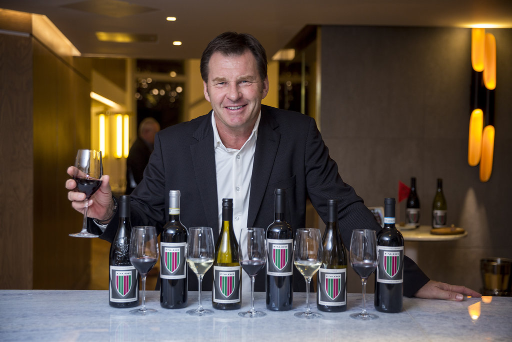 Sir Nick Faldo with his wine collection 2