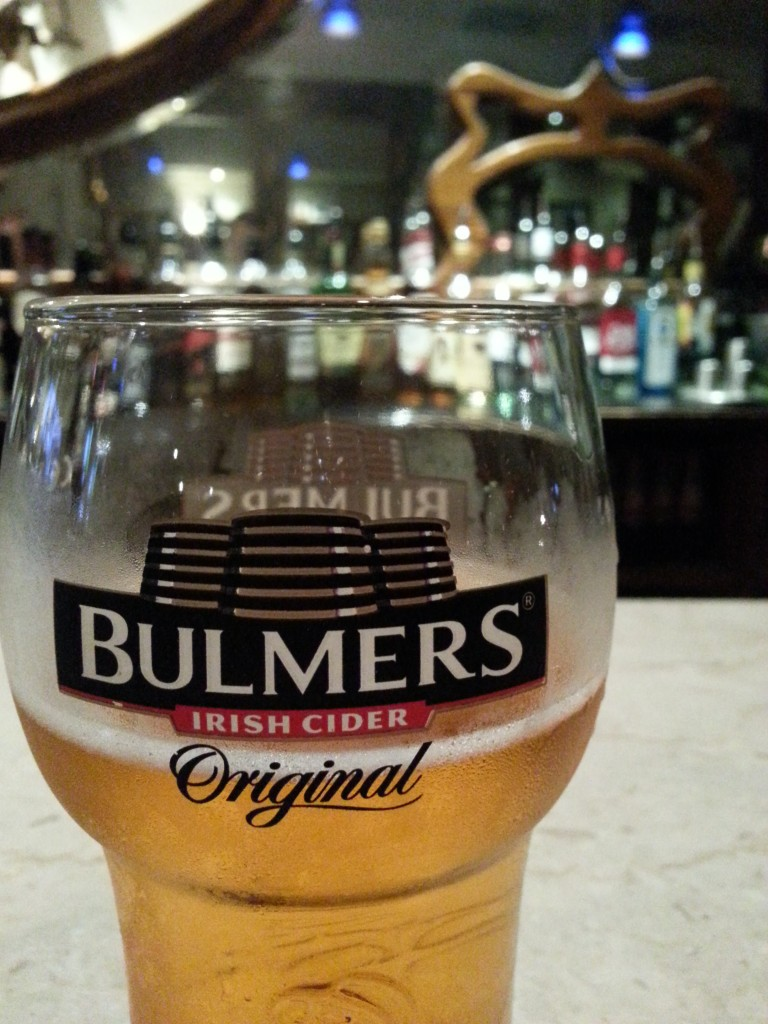 Our pick for sipping with literary ghosts at Davy Byrne's is a Bulmer's Cider.