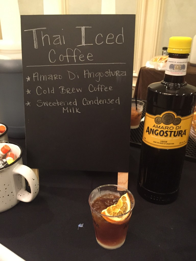 Spirited Award Winner Best New Cocktail Ingredient Amaro di Angostura greets us in the am with much needed tea! Photo Amanda Schuster