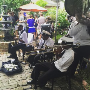 Brass band at the Beam Suntory Jul(e)p Hour, photo Amanda Schuster
