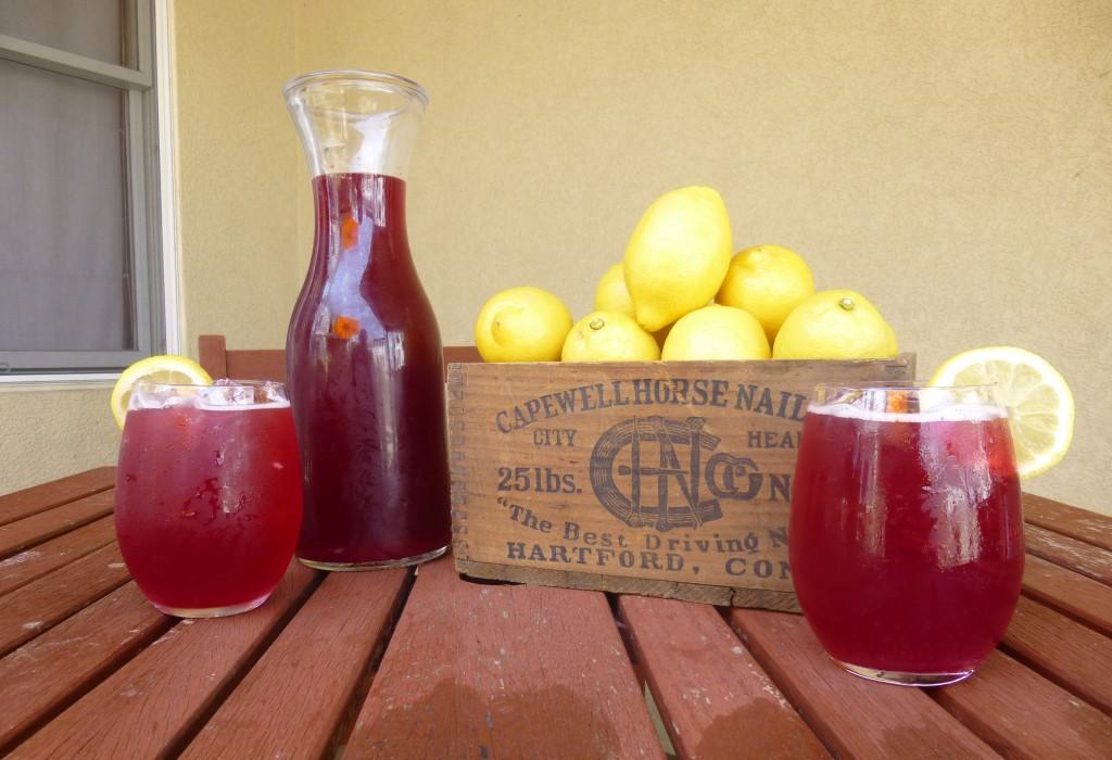 Blueberry Basil Lemonade Shandy