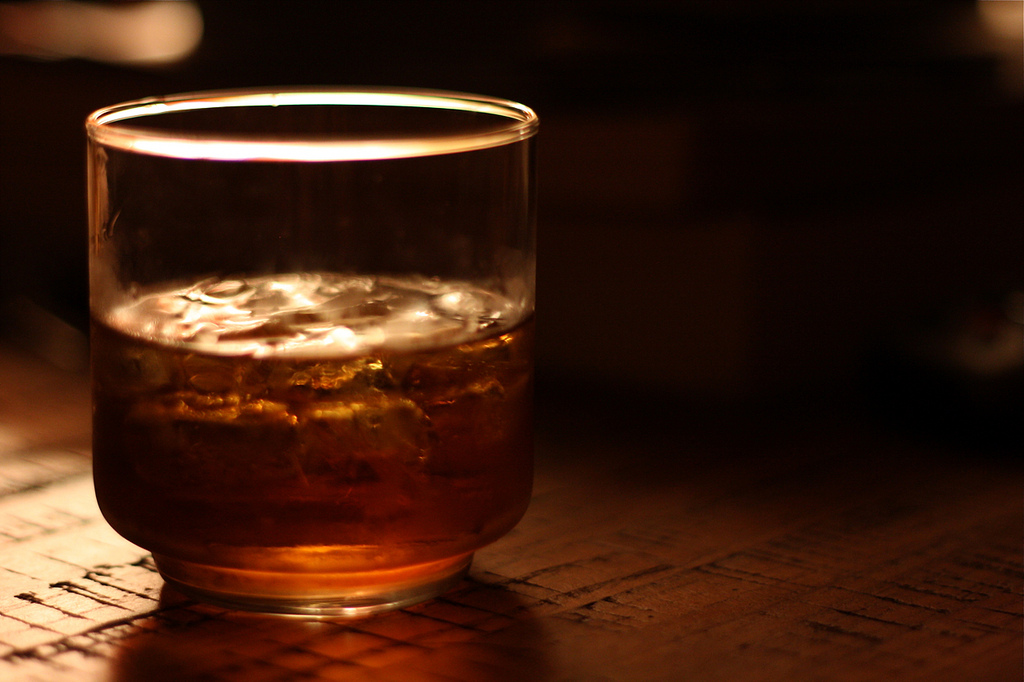 Bourbon on the rocks, photo by Dominick
