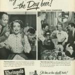 Joan Crawford for Rheingold, 1952