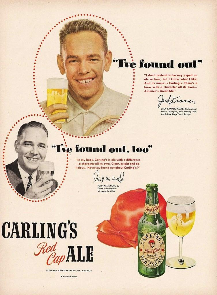 Carling's Red Cap, 1950