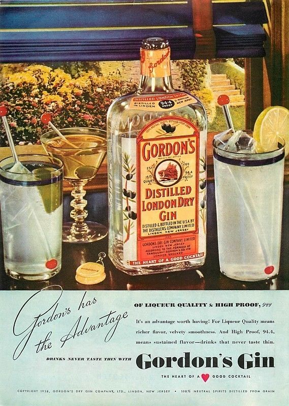 Gordon's, 1938