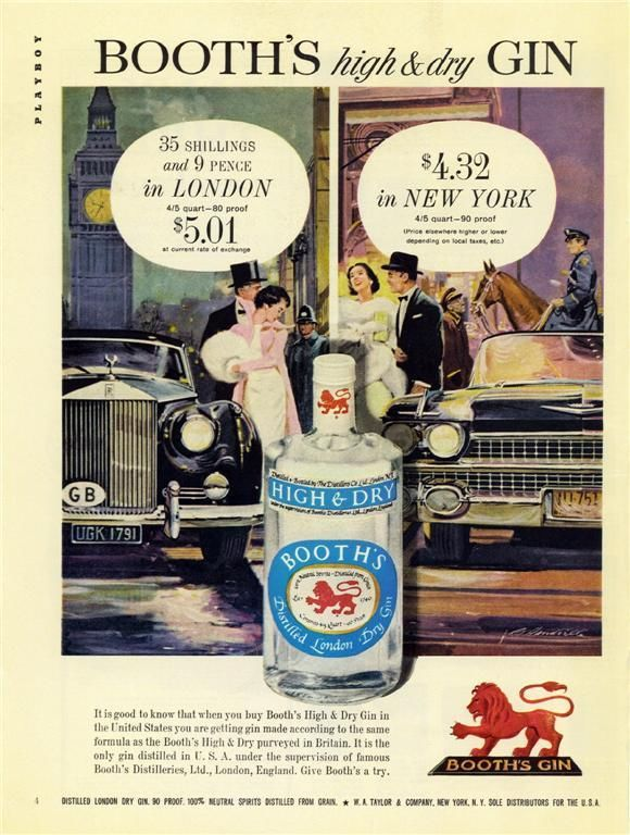Booth's Gin, 1960
