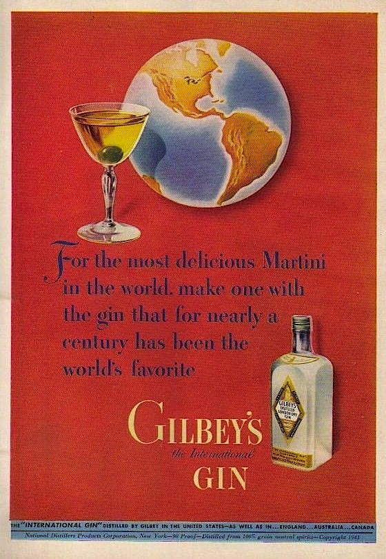 Gilbey's Gin, 1943