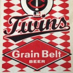 A pocket schedule for the 1977 Minnesota Twins, published by Grain Belt Beer