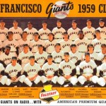 A Falstaff Brewery San Francisco GIants team baseball card from 1959