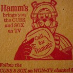 Hamm's Beer coaster from the 1960s, promoting both Chicago teams