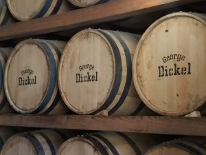 barrels at George Dickel's Cascade Hollow distillery, photo by Maggie Kimberl