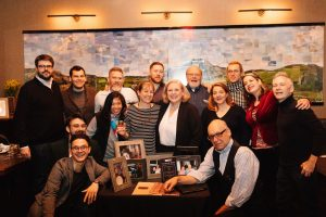 Kathleen DiBenedetto with Fred Noe and all the batch panelists at Fine & Rare in NYC