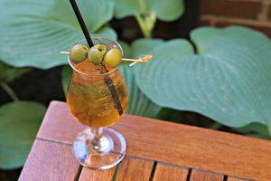 Dirty Martini Spritz at Hazel