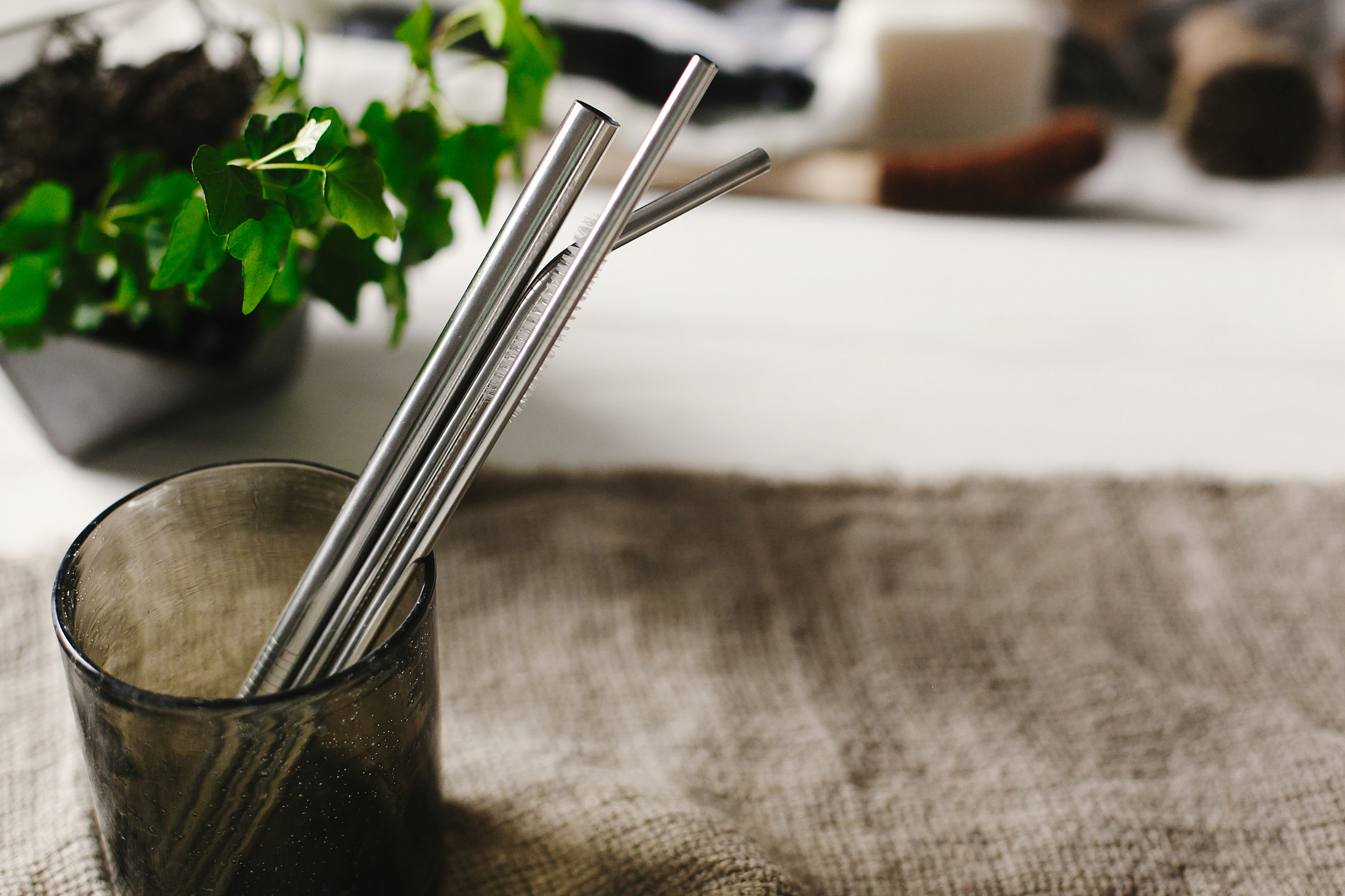 metal straws, via adobe stock photo