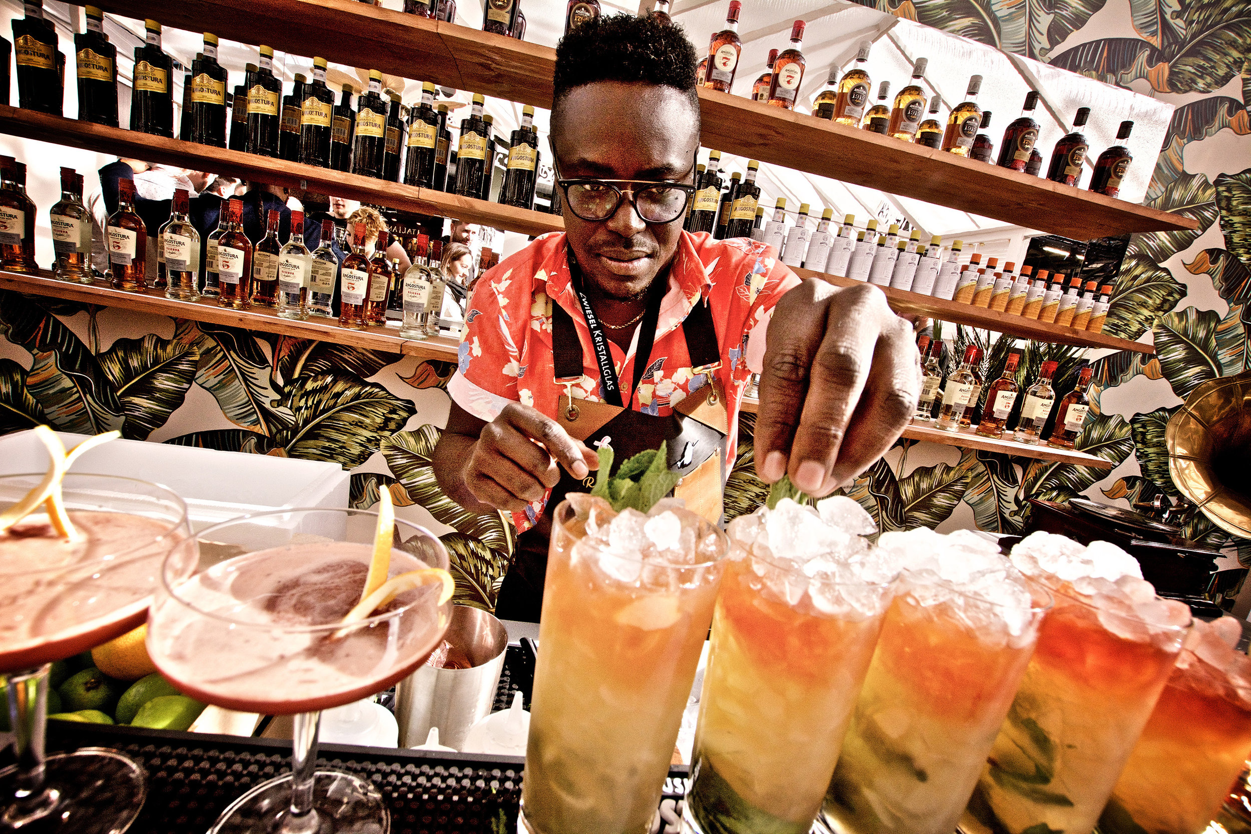 Queens Park Swizzles for all at the Angostura stand! Photo by Gili Shani for BCB