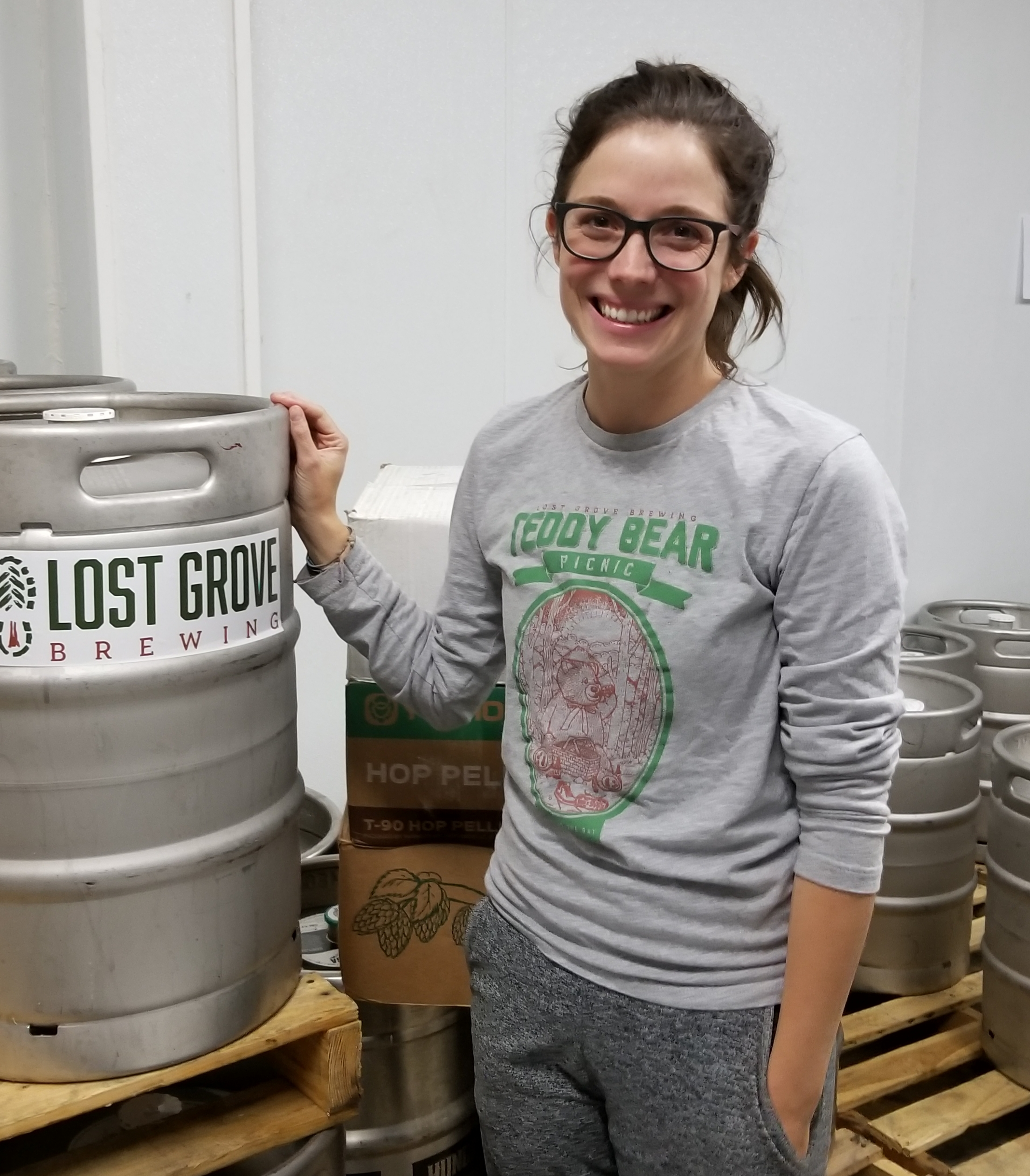 Lost Grove tap room manager Kylie Bolland, photo by Phil Galewitz