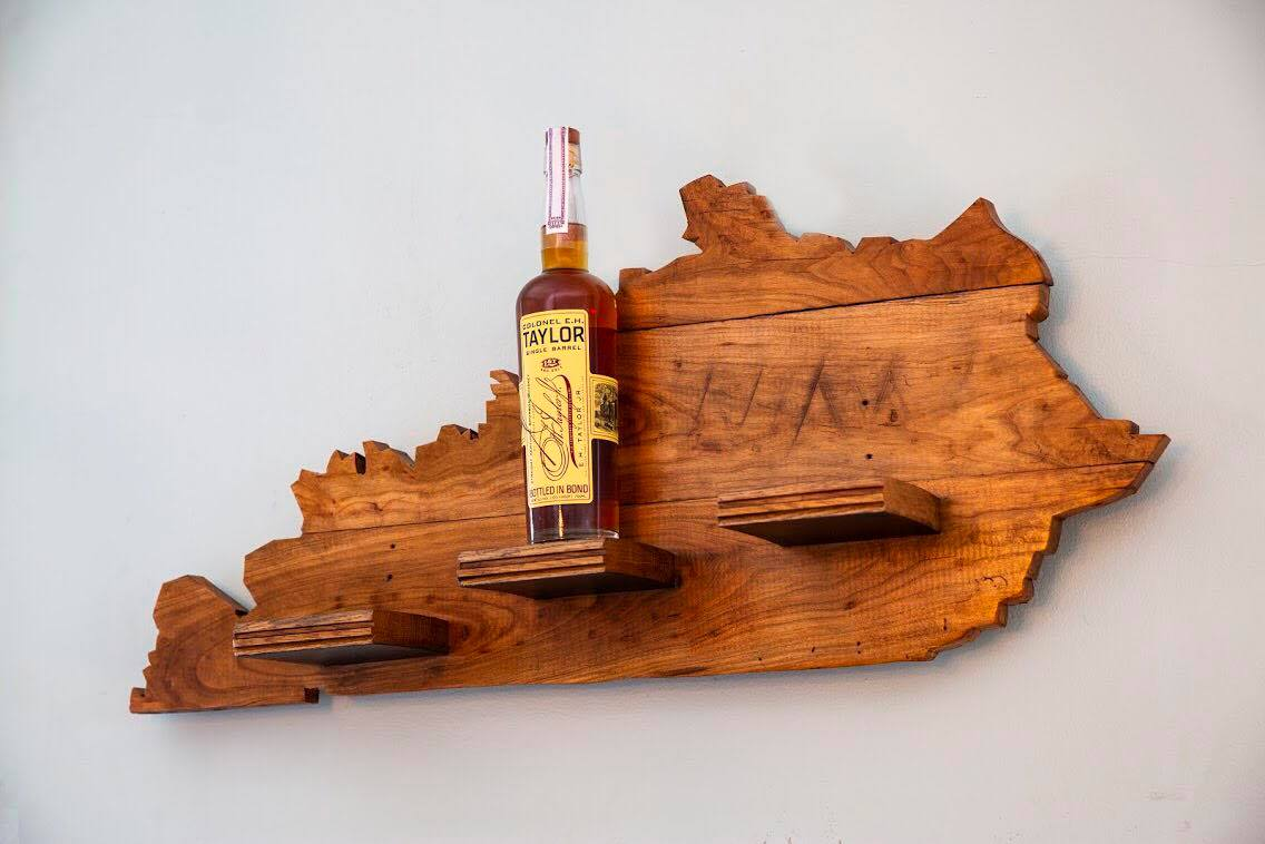 courtesy of Drunkwood, who also make this bourbon barrel shelf