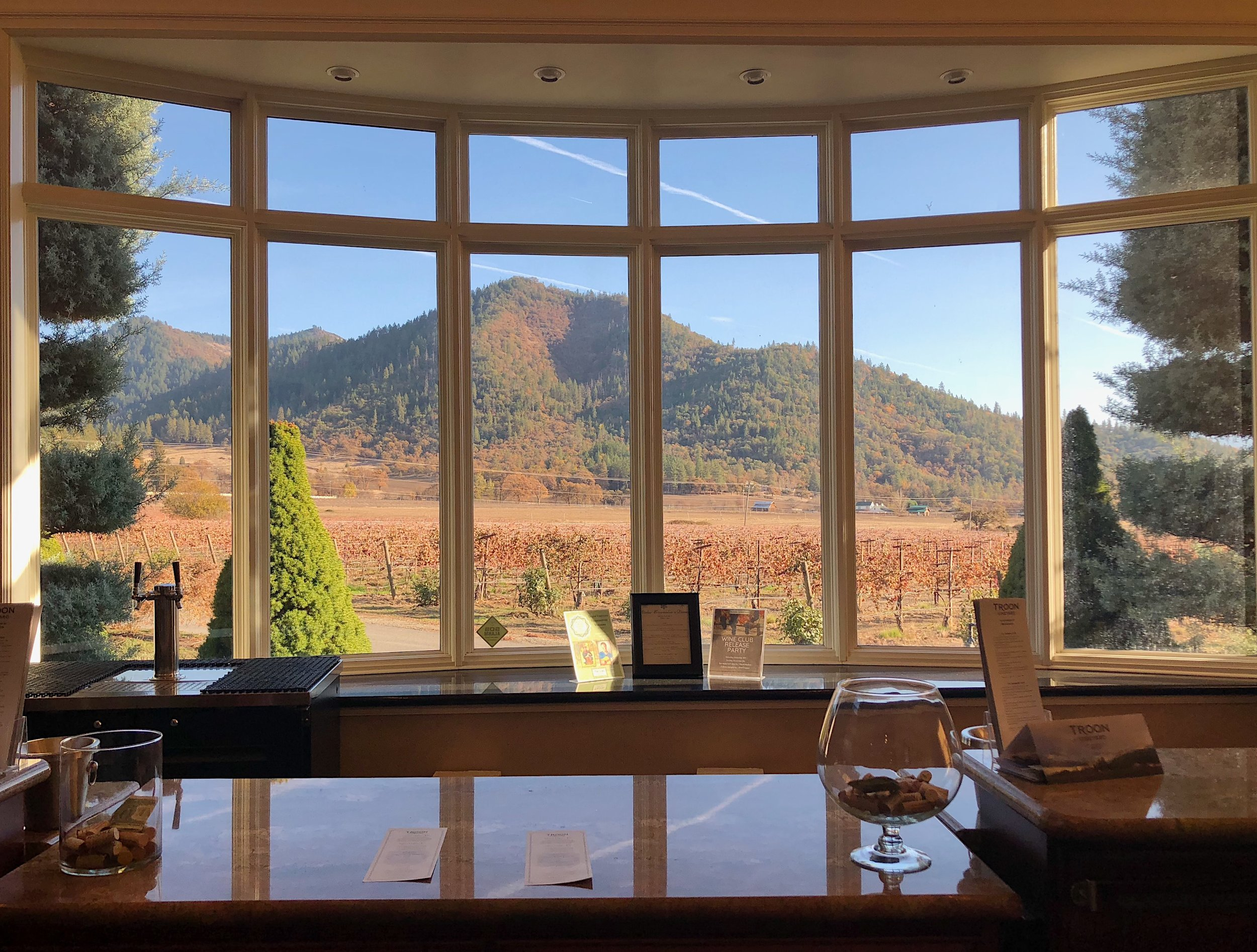 View from the Troon tasting room