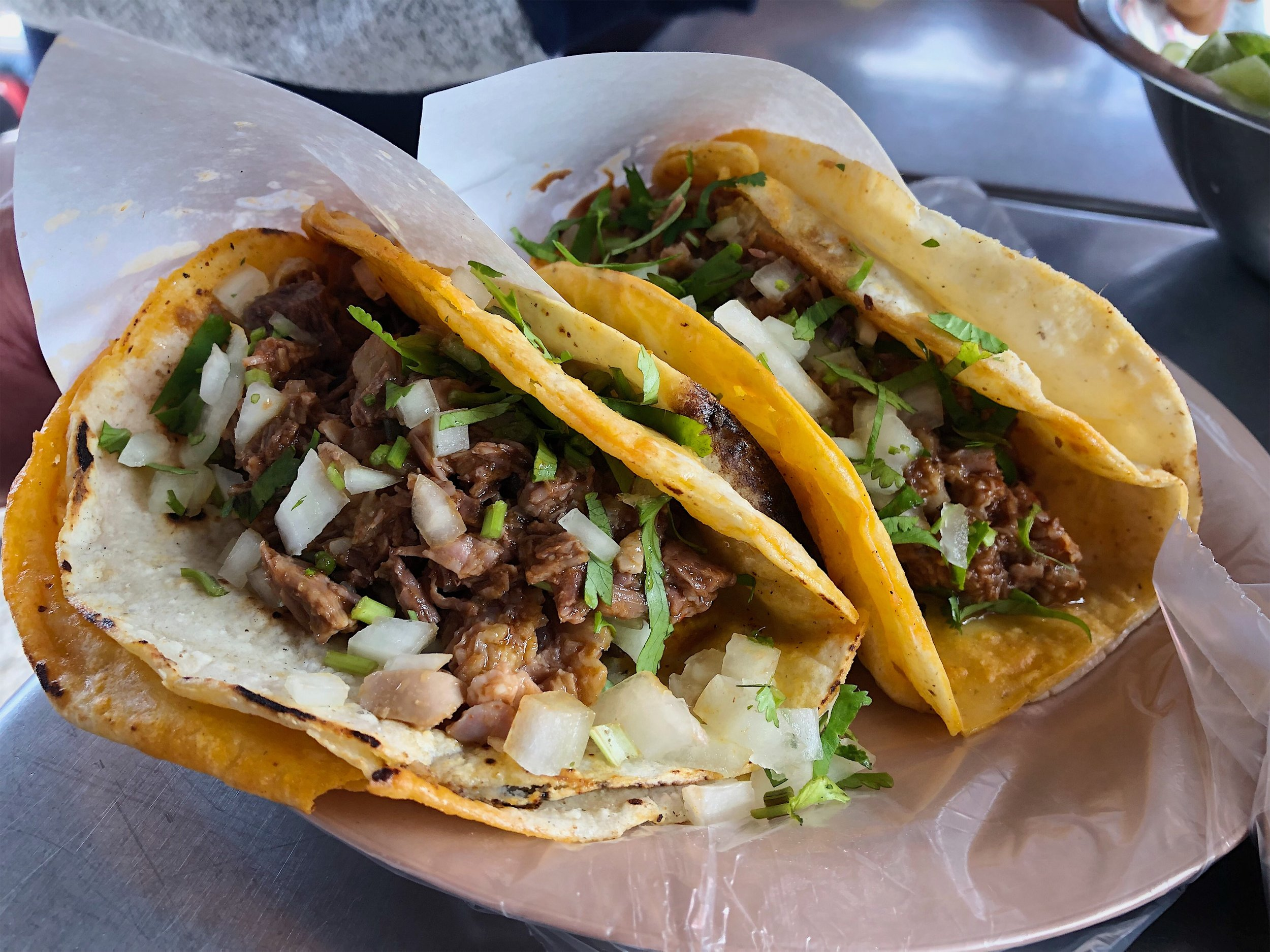 One of the best parts about visiting border breweries? Proximity to fresh tacos!