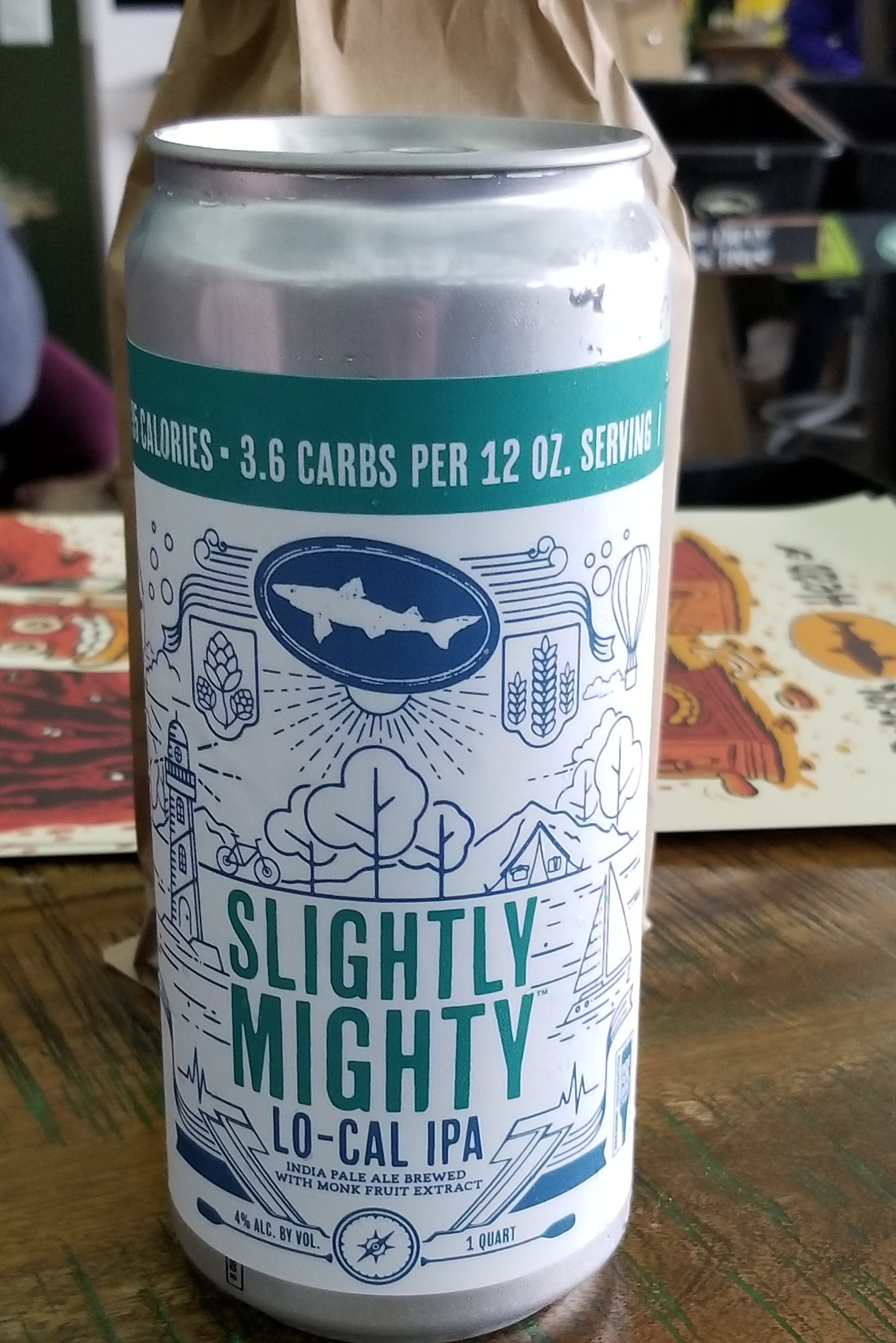 Dogfish Head Slightly Mighty, photo by Phil Galewitz