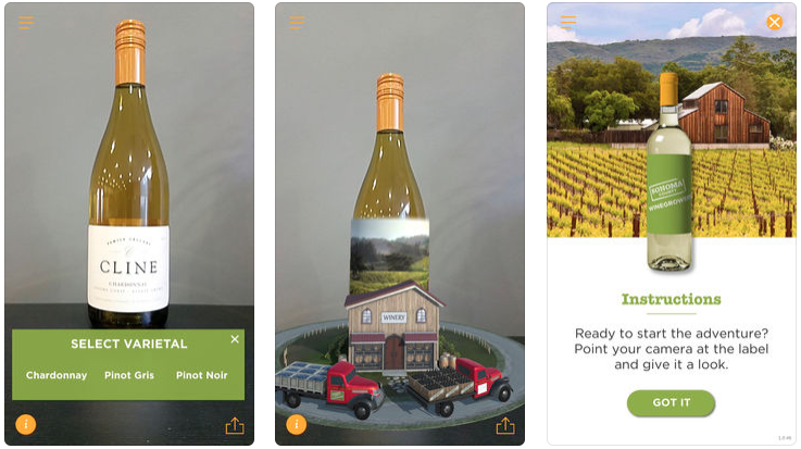 Sonoma County Winegrowers living wine label app