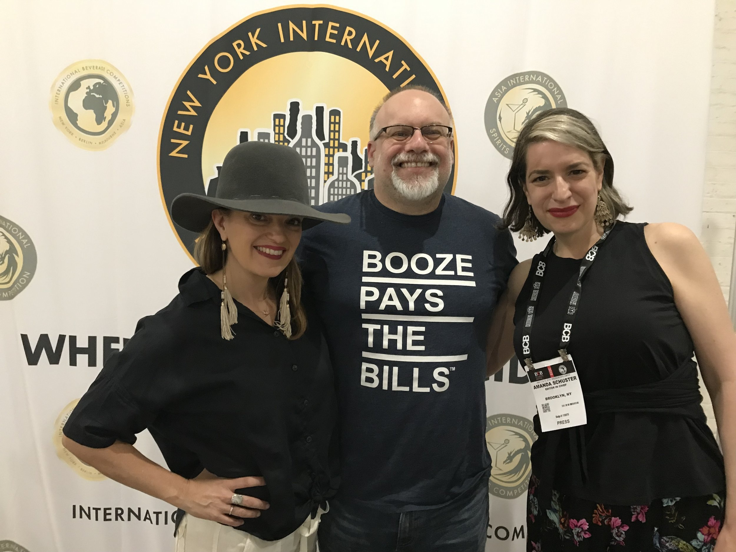 The Alcohol Professors with honorary professor, the newly minted Ben Milam Whiskey CEO Heather Greene